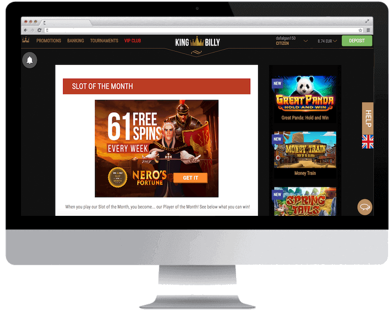 king billy bitcoin casino free spins bonus