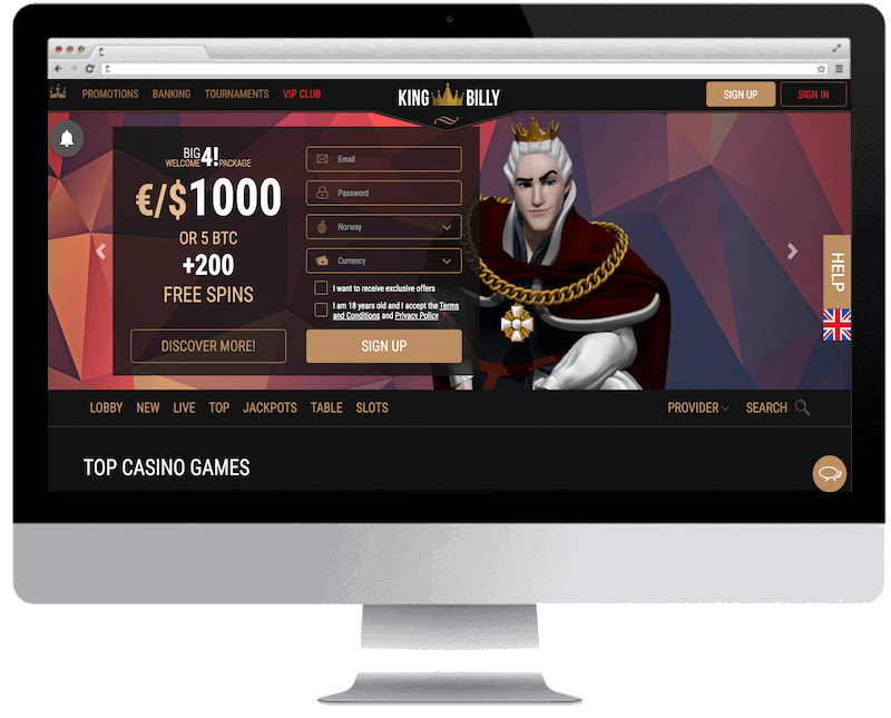 king billy bitcoin casino no deposit bonus spins