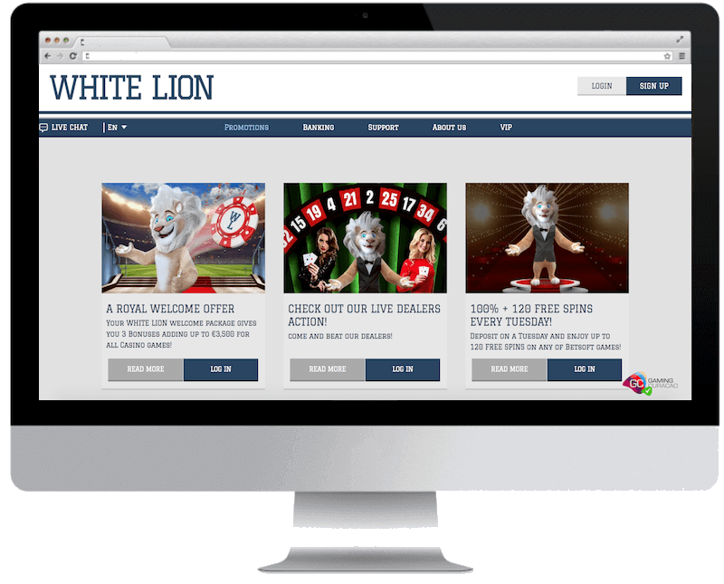 white lion bets bitcoin casino free spins bonus