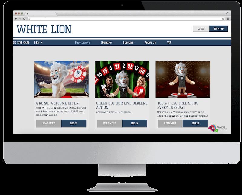 White Lion Bets Casino 10 No Deposit Bonus