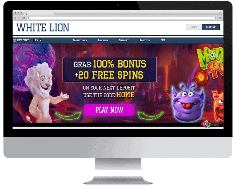 white lion bets bitcoin casino no deposit bonus