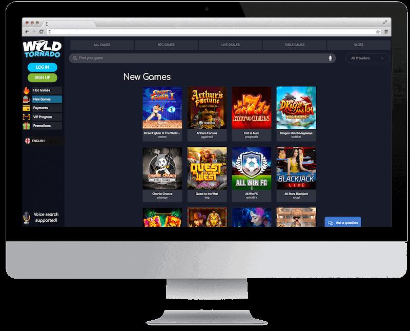 wild tornado bitcoin casino free spins bonus