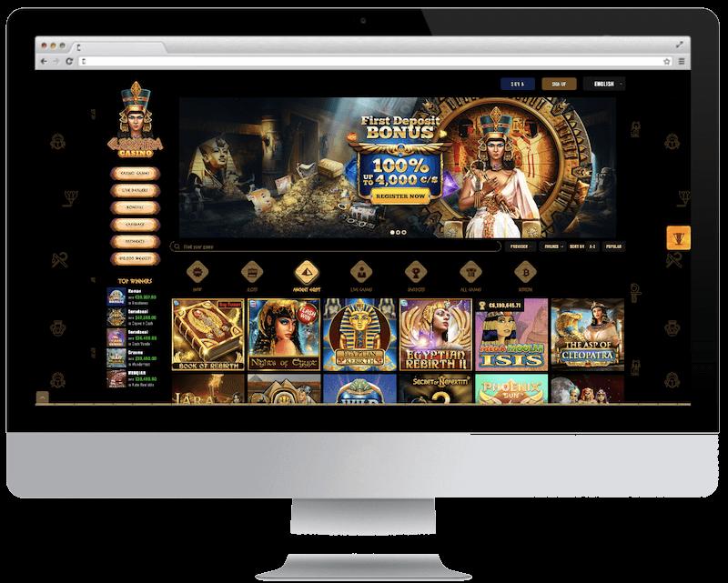 cleopatra bitcoin casino no deposit bonus spins