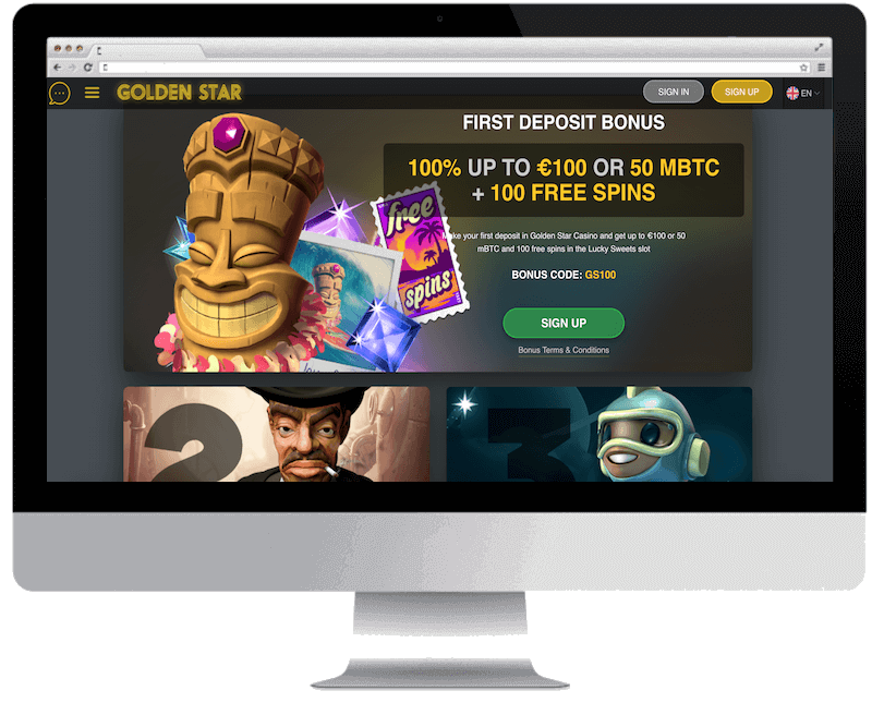 golden star bitcoin casino free spins bonus