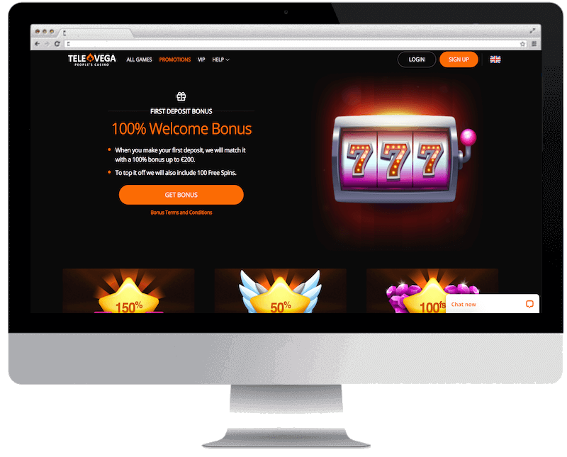 Televega Casino Exclusive 25 Free Spins No Deposit