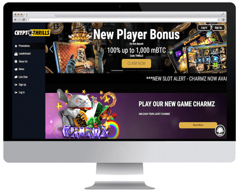 cryptothrills bitcoin casino no deposit bonus spins