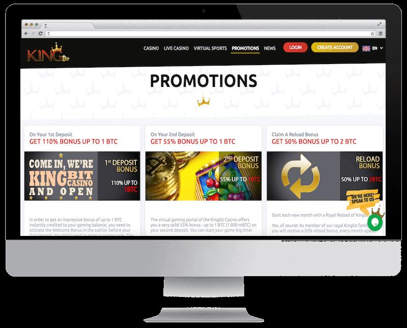 kingbit bitcoin casino no deposit bonus spins